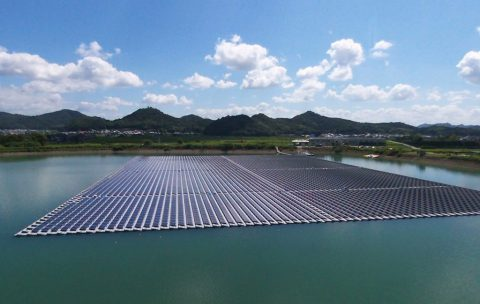 Floating photovoltaic plants