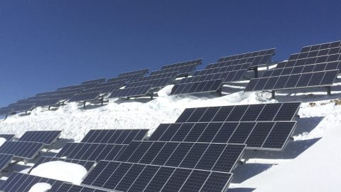 Solar Panels with Snow